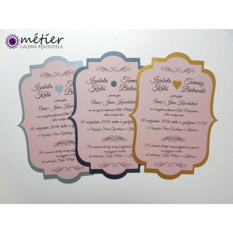 Eleganckie Oryginalne Zaproszenia Na ślub W Unikalnym Kształcie Www