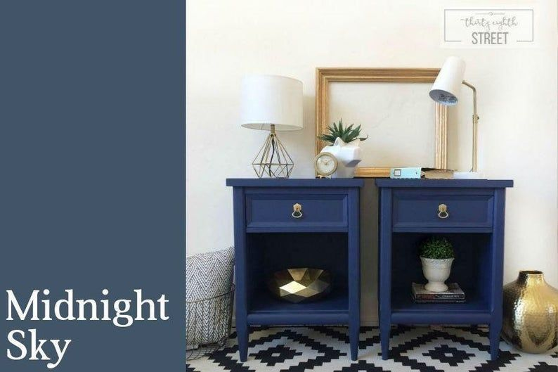 Midnight Sky Starstruck Peacoat Bling Bling Blue Furniture Paint By Country Chic Chalk Style In 2020 Country Chic Paint Painted Furniture Blue Painted Furniture