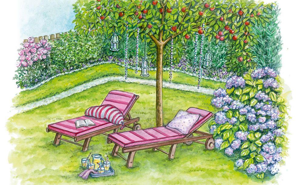 1 Garten 2 Ideen Einladende Sitzplatze Mit Sichtschutz Garten Gartengestaltung Im Freien