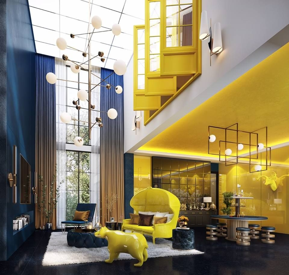 yellowish loft | interior ideas | Pinterest | Lofts, Retro floor ...