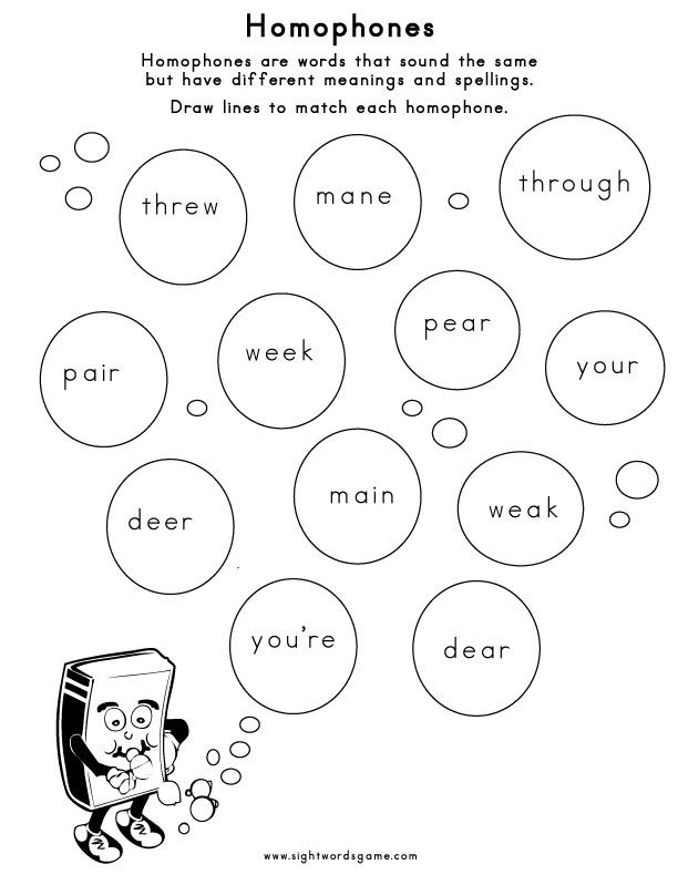 Homophone-Worksheet-4 | Spelling rules, Worksheets, Spelling