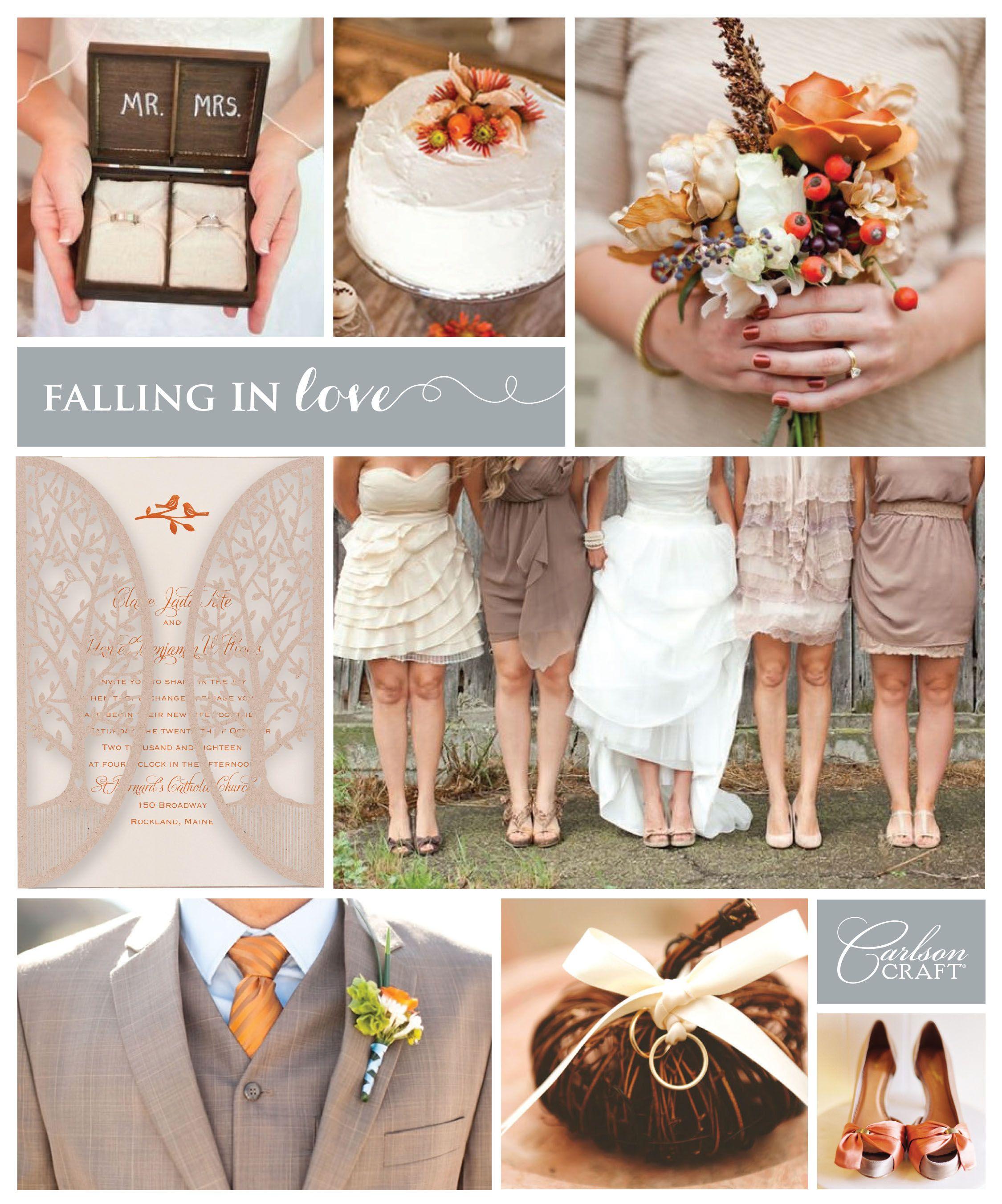 Fall colors wedding inspirational boards pinterest laser cut