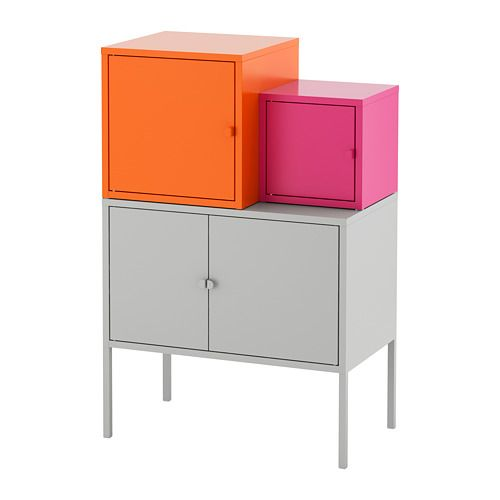 Aufbewahrungskombi LIXHULT Grau Orange, Rosa In 2019