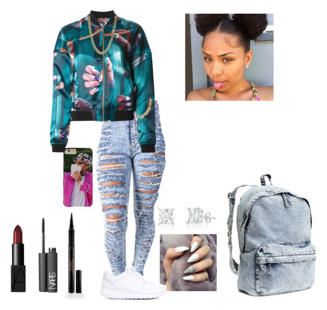 """8/13/15"" by pretty-youg-thang ❤ liked on Polyvore featuring Andrea Crews, NARS Cosmetics, Elizabeth Arden, H&M and NIKE"