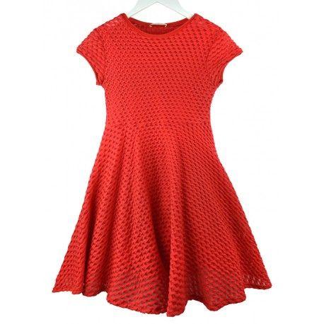Coral Marca Vestido De Elástico Rojo La NiñaVerano Para Elsy mN8nOv0w