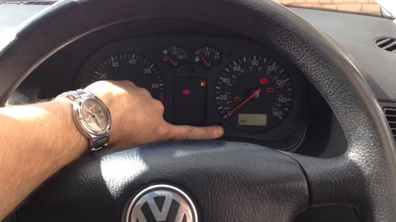 How to reset service reminder on dash on a VW Golf MK4 | VW