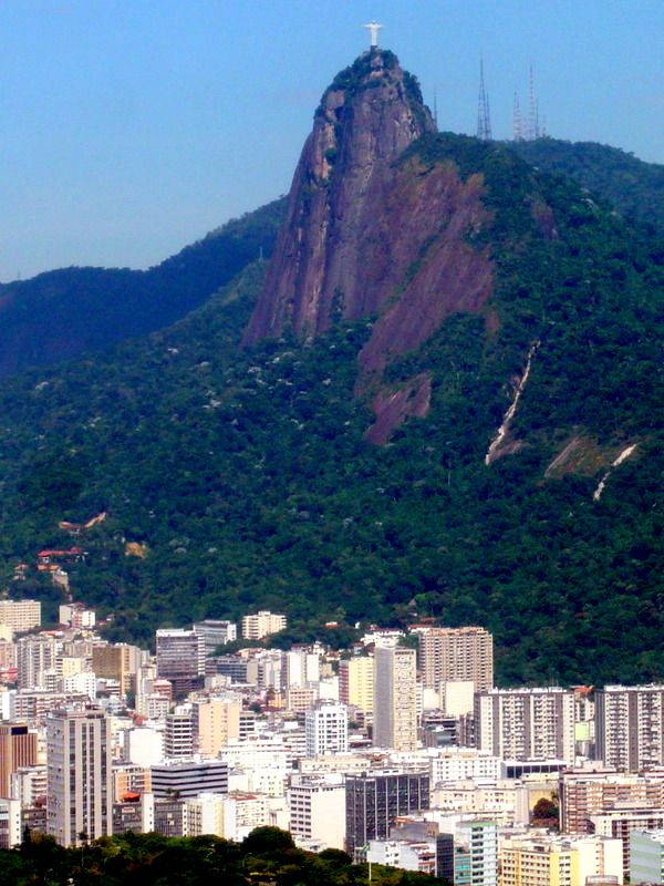 Christ the Redeemer observing Rio from high up