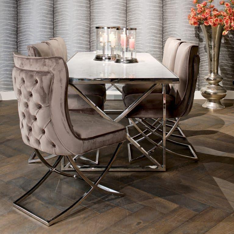 A Beautiful Combo Scarlett Khaki Velvet Chair And Kensington