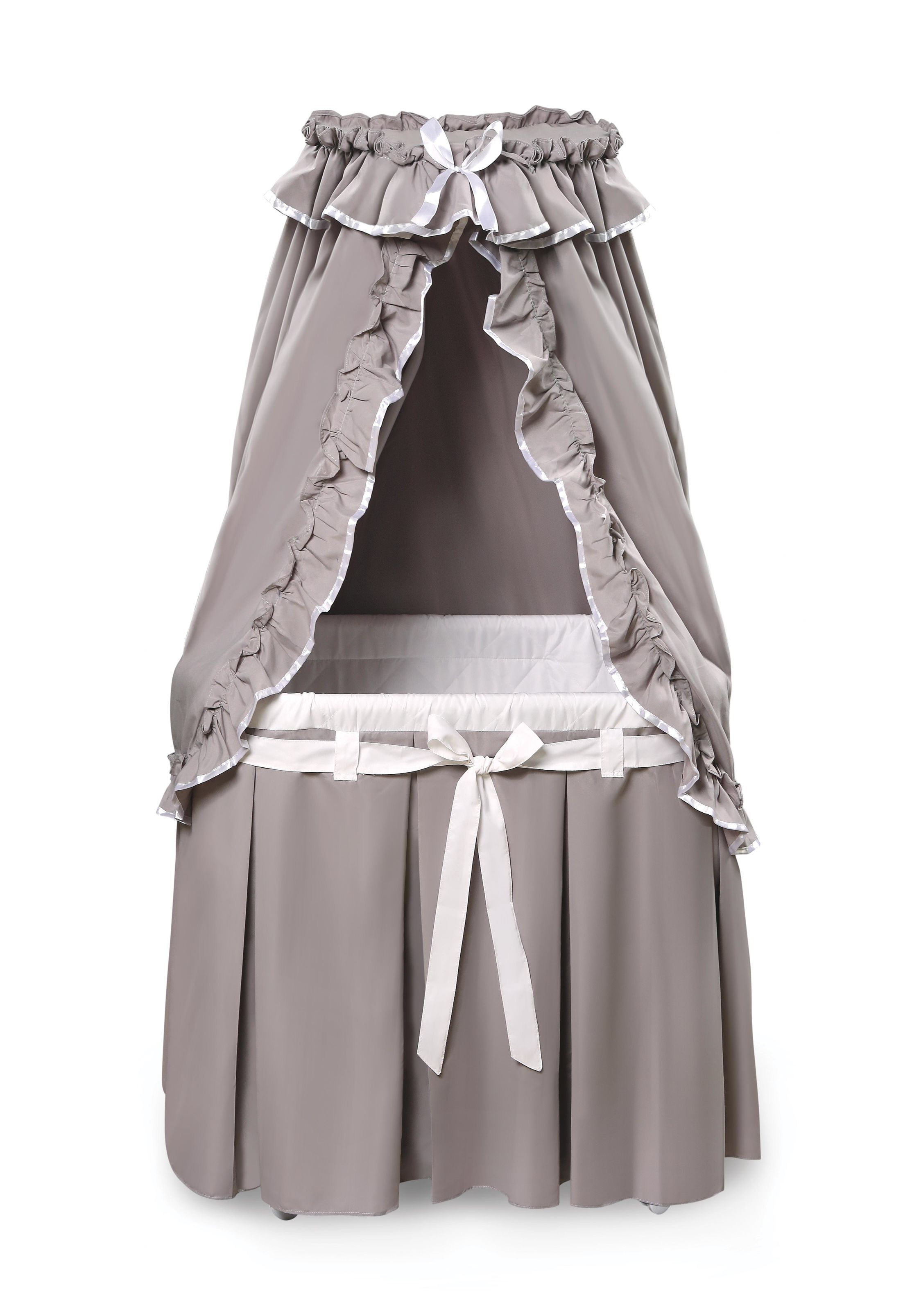 Features Bedding Is Removable And Machine Washable Complete Bassinet With Bedding Liner