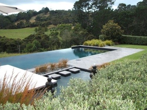 Pin By Martha Gillis On Pool Water Feature Ideas Country Pool Landscaping Infinity Pool Backyard Pool Landscaping