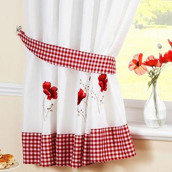 Poppy Ready Made Kitchen Curtains