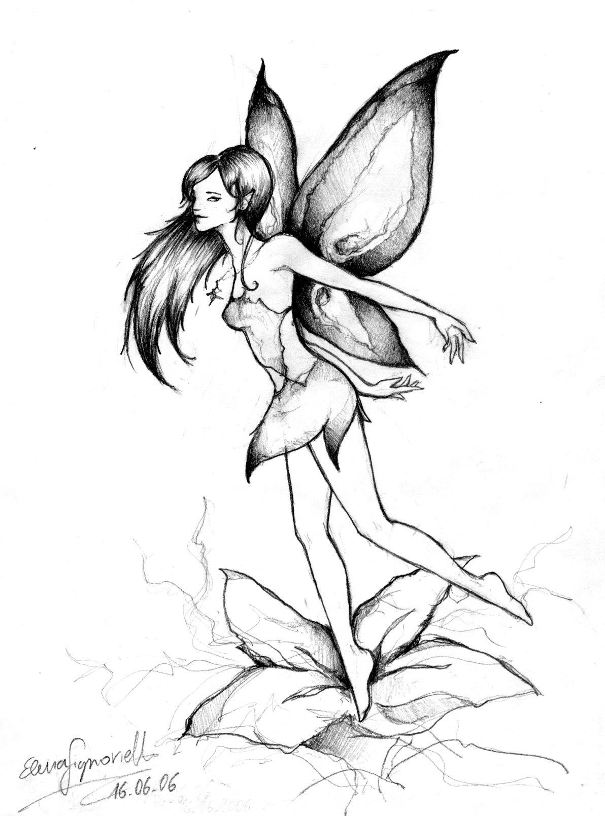 Fairy Garden Drawing Easy