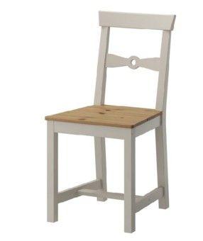 גמלבי כיסא עץ במראה עתיק בהיר/אפור