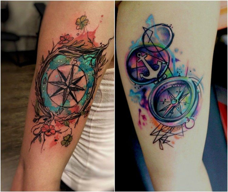 Tatouage rose des vents et boussole significations et 25 mod les cool tatouage rose des - Symbolique des tatouages ...