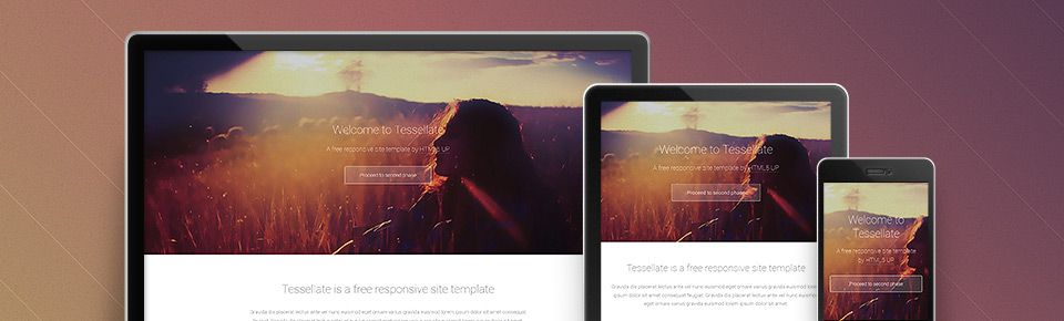 Tesselate html 5 responsive one page template free under the tesselate html 5 responsive one page template free under the creative commons license freebies pronofoot35fo Gallery