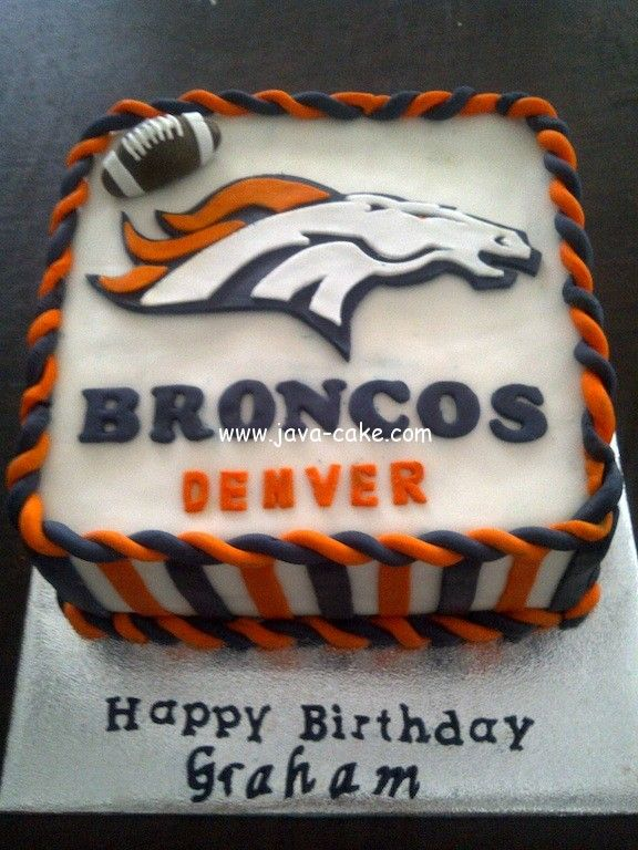 Denver Broncos Cake On Pinterest Miami Dolphins Cake