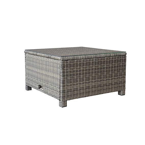 Fantastic Amazon Com Orno Ttobe Outdoor Patio Wicker Coffee Table Spiritservingveterans Wood Chair Design Ideas Spiritservingveteransorg