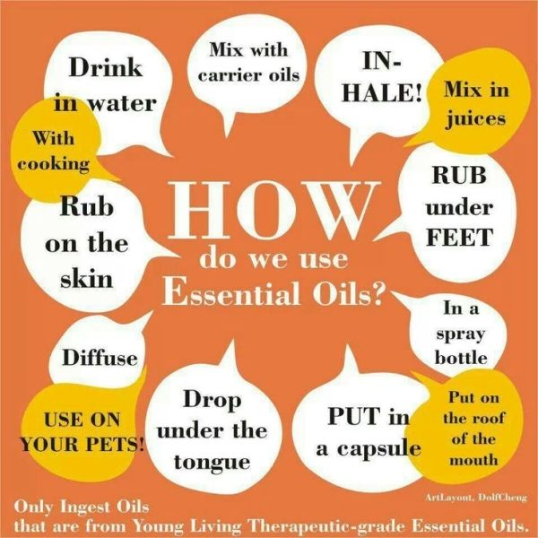 Ways to use essential oils By:unknown