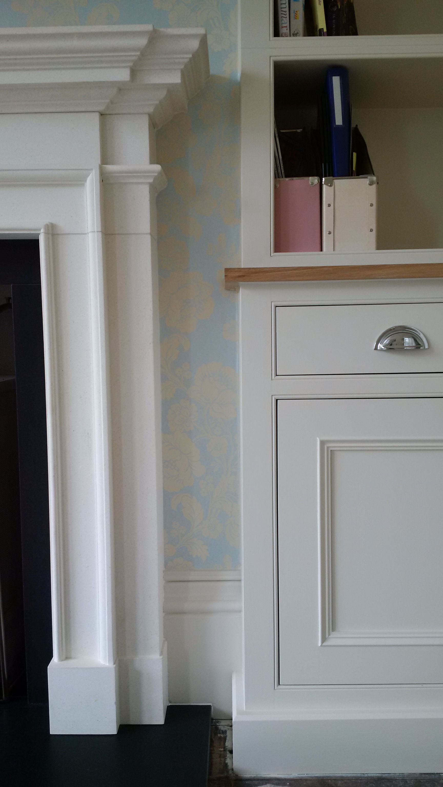 e7a98d6c5 Hand painted in Farrow & Ball Slipper Satin. Made from tulipwood with  American Oak tops in natural lacquer.