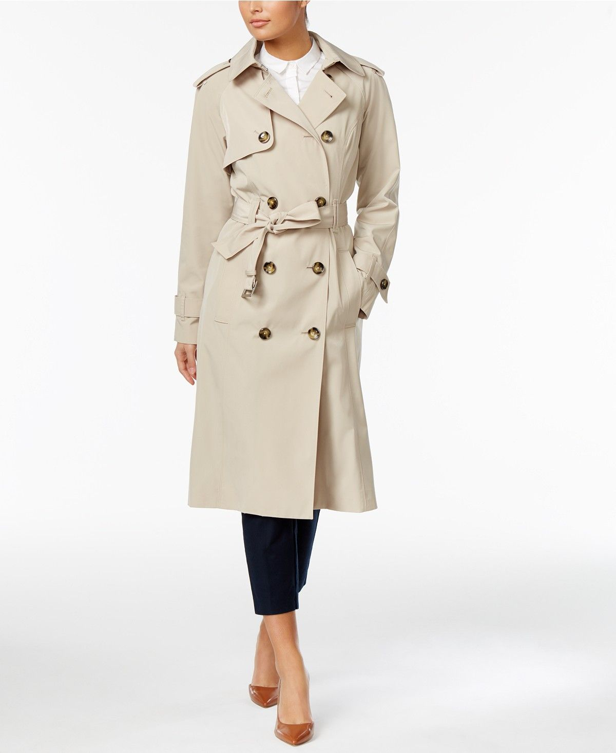 largest selection of 2019 fine quality official site London Fog Petite Belted Lightweight Trench Coat - Coats ...