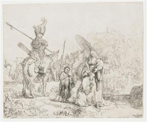 The baptism of the eunuch - Rembrandt  - Completion Date: 1641