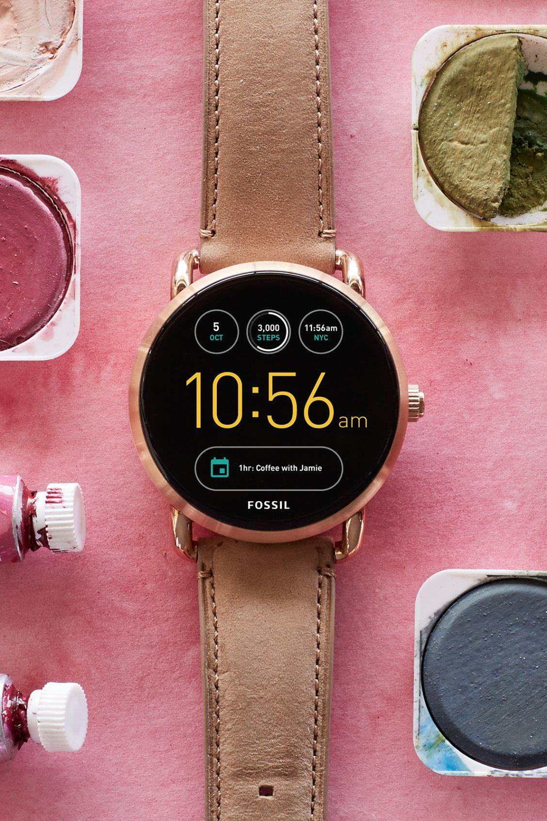 Gen 3 Smartwatch Venture Sand Leather Smart Watch Watch Design Smart