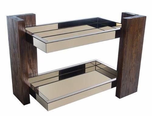 Armario Para Ropa Blanca Ikea ~ Bar Aparador Luxo c 2 Bandejas Espelho Bronze (promoç u00e3o) R$ 1 249,00 Amei Pinterest