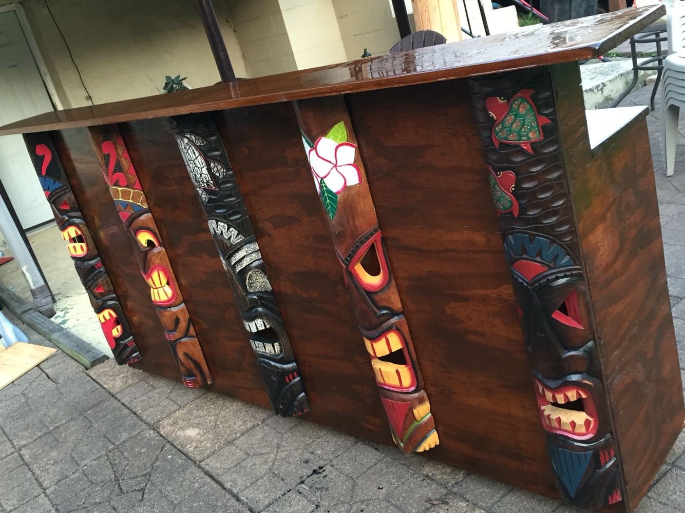 Tiki bar outdoor pinterest decoracion de bares bar and artesanias con bambu - Decoracion surfera ...
