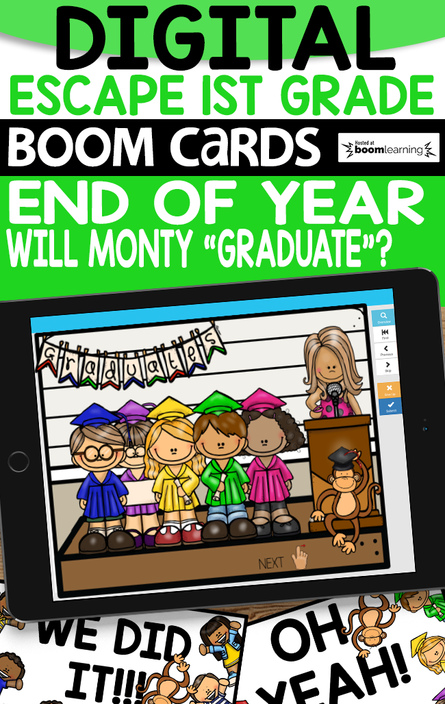 End of Year Digital Escape Graduation Day Boom Cards™ Distance Learning