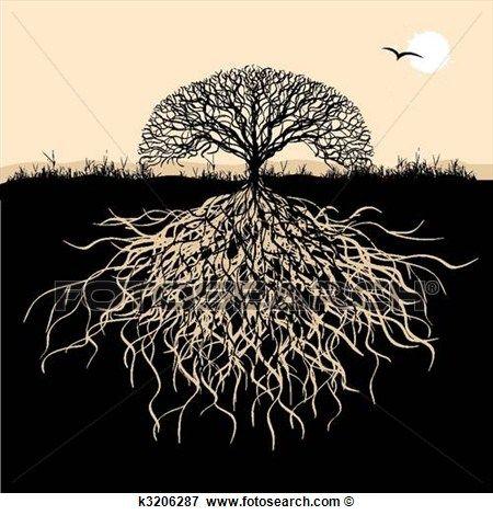 arbre silhouette racines clipart racines pochoir silhouette et arbre de vie. Black Bedroom Furniture Sets. Home Design Ideas