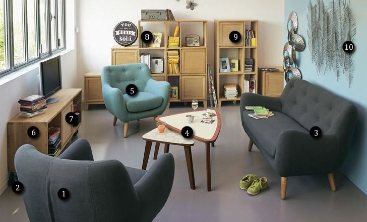 1000 images about salon on pinterest pastel style and eames - Salon Bleu Vintage