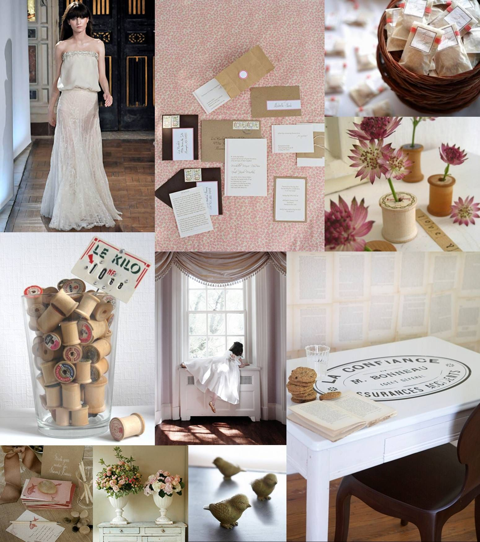 What Is Vintage Decor With Objects Makes For A Very Feminine And Sweet Wedding