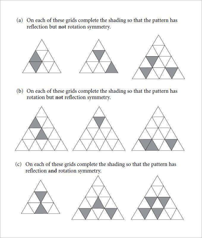 Sample Rotational Symmetry Worksheet   Free Pdf Powerpoint