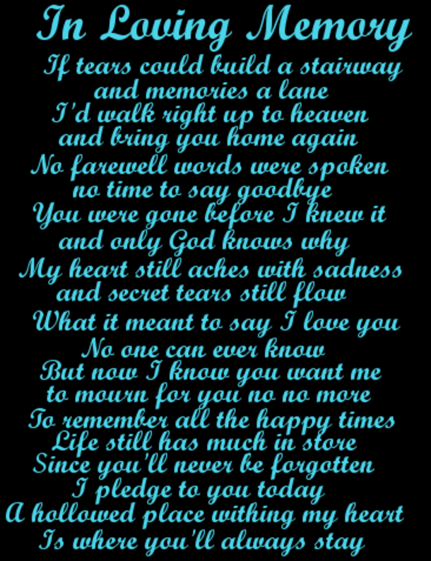 10 In Memory Quotes And Sayings In Loving Memory Quotes Memories Quotes Pass Away Quotes