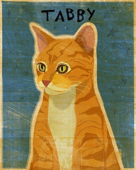 Ginger Tabby Cat Wall Art Cat Art Cat Art Print
