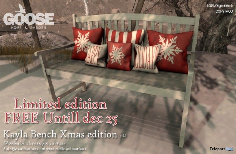 Kayla bench Xmas Edition Group Gift by GOOSE