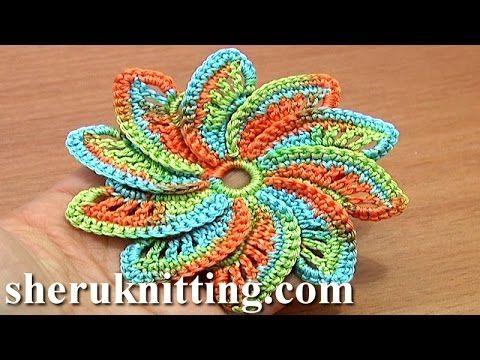 ▷ Spiral Flower Crochet Step-by-Step Tutorial 55 Crochet Around ...