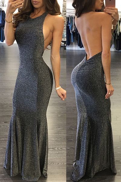 ef6134f4aae m.lovelywholesale.com wholesale-sexy+round+neck+sleeveless+backless+dark+ grey+polyester+mermaid+floor+length+dress-g154235.html