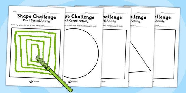 pencil control activity shape sheets fine motor skills shapes nursery shapes numbers. Black Bedroom Furniture Sets. Home Design Ideas