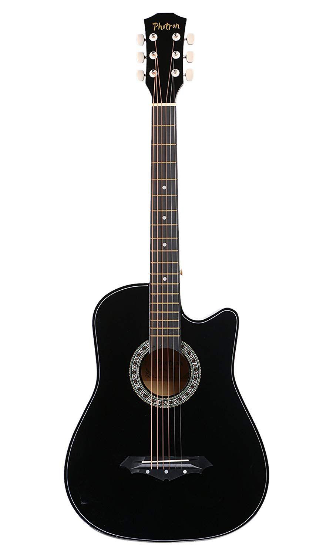 Deal Price Rs 1499 Photron Acoustic Guitar 38 Inch Cutaway Ph38c Bk With Picks Black Guitar Acoustic Guitar Acoustic