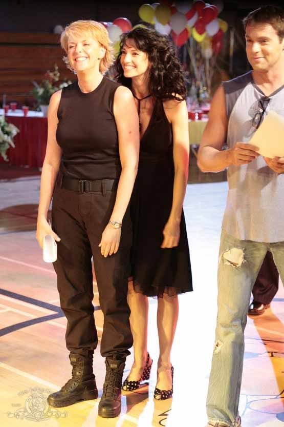 Michael Shanks, Amanda Tapping, and Claudia Black #SG1