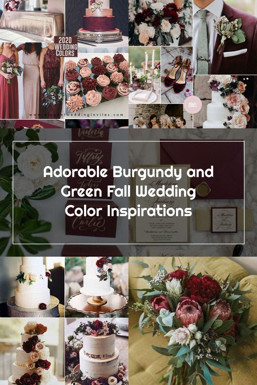 Wedding Place Cards For Burgundy And Green Wedding In 2020 Green Fall Weddings Wedding Color Inspiration Fall Burgundy Wedding