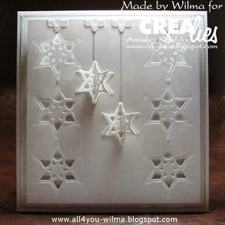 Look for the used products at: http://www.all4you-wilma.blogspot.nl/2013/12/christmas-with-crealies.html