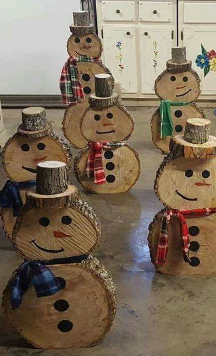 Wooden Snowmen No Directions Christmas Wood Crafts