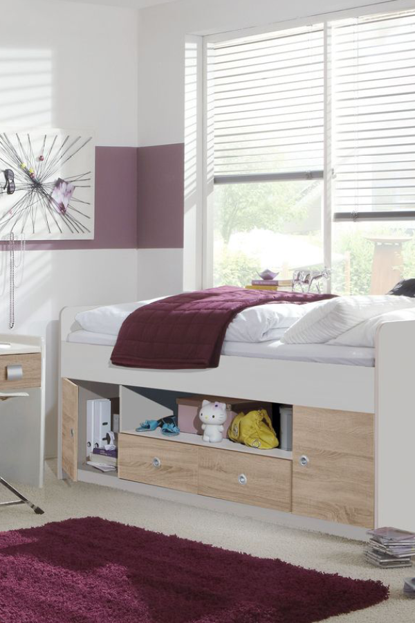 Weisses Kojenbett Mit Stauraum In Schubladen Und Fachern Prea Schlafzimmer Einrichten Schlafzimmer Einrichten Ideen Zimmer Einrichten