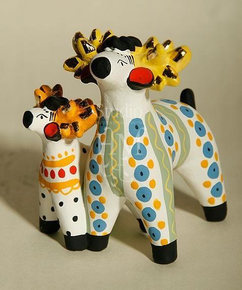 Дымковская игрушка статуэтки | Детские художественные ...