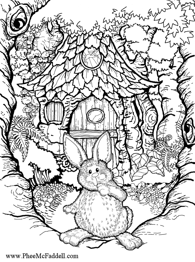 Easter Bunny House Coloring And Craft Project Www Pheemcfaddell Com Easter Coloring Pages Coloring Pages Easter Colouring