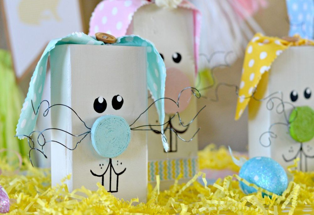 wooden easter bunny tutorial, crafts, diy, easter decorations, how to, seasonal…
