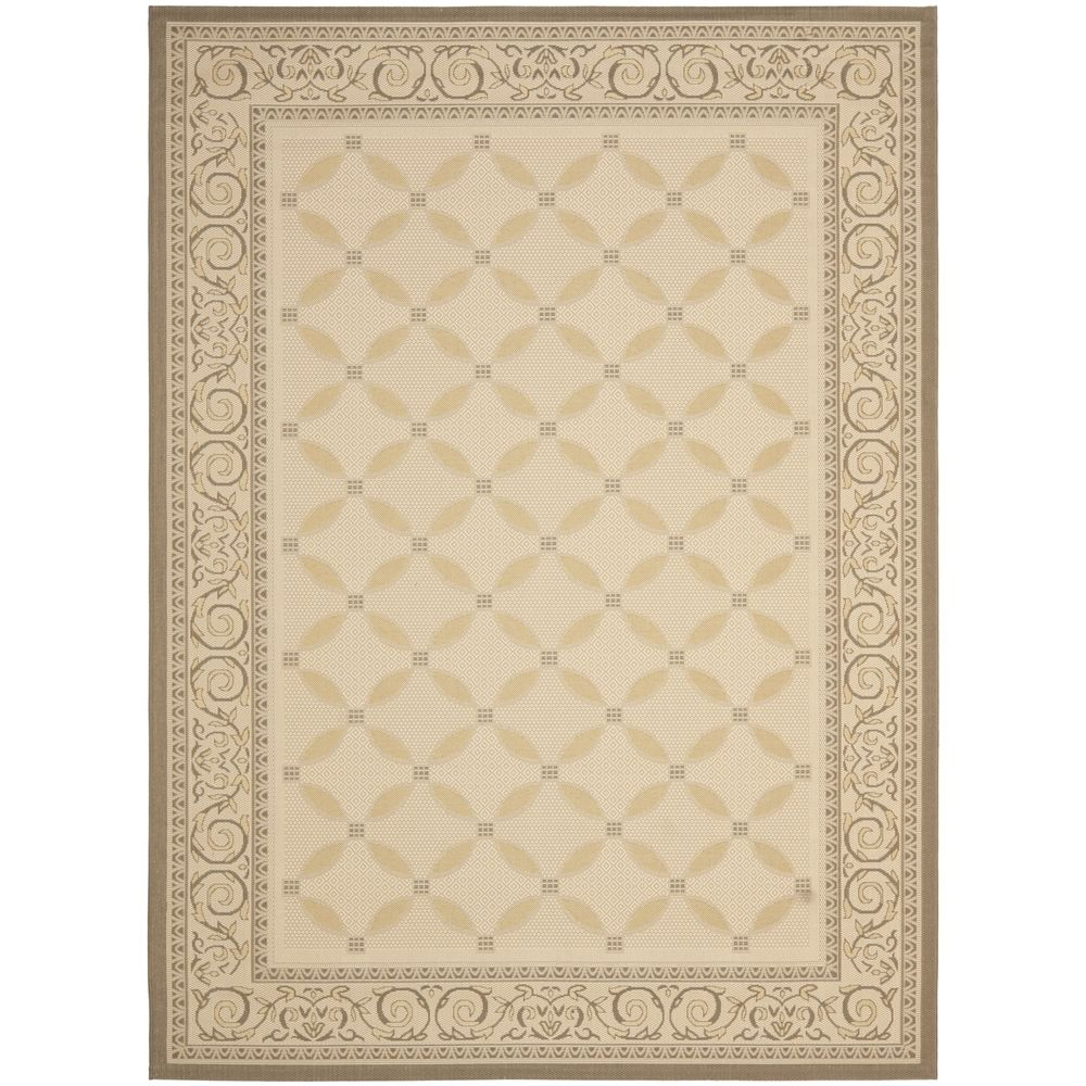 Safavieh Beige/ Dark Beige Indoor Outdoor Rug (9' x 12') | Overstock.com Shopping - Great Deals on Safavieh 7x9 - 10x14 Rugs