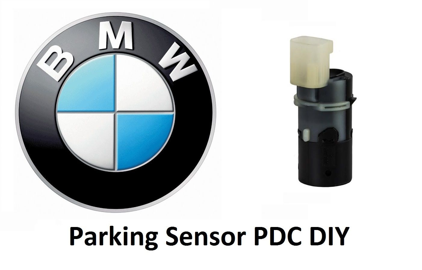 Rear 4 Point Reversing Parking Sensor Kit Buzzer For BMW E30 E36 E46 E90 E39